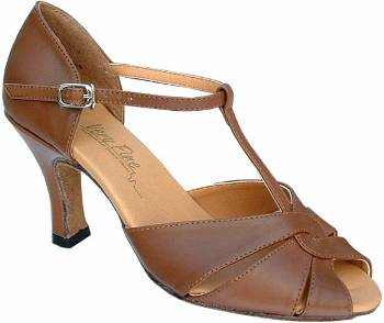 argentine tango shoe-Model VF 6006-Coffee Brown Leather